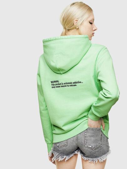 Diesel - S-GIRK-HOOD-FLUO, Neongrün - Sweatshirts - Image 4