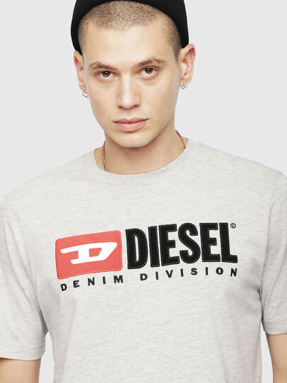 Diesel - T-JUST-DIVISION, Hellgrau - T-Shirts - Image 3