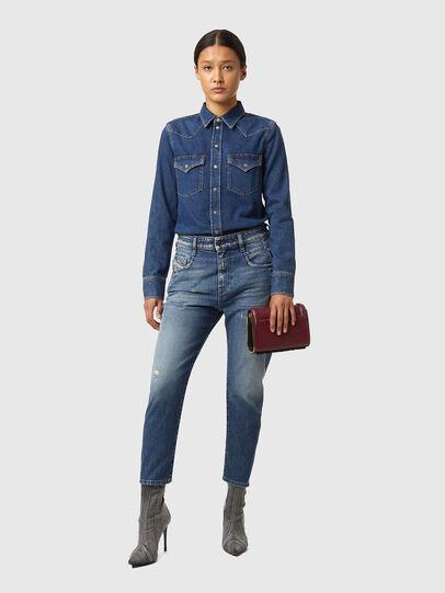 Diesel - Fayza 09A54, Blu medio - Jeans - Image 4
