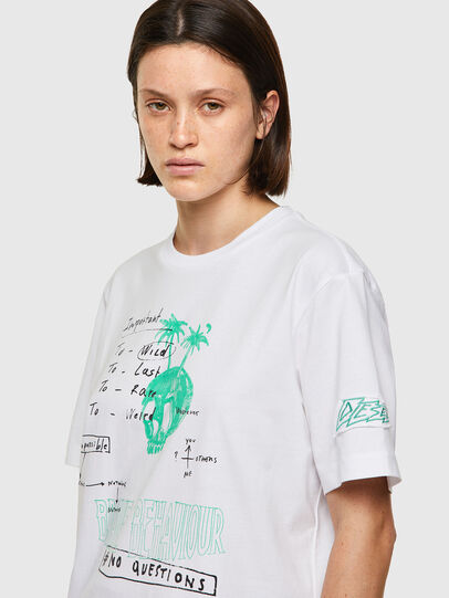 Diesel - T-JUST-B61, Bianco - T-Shirts - Image 6