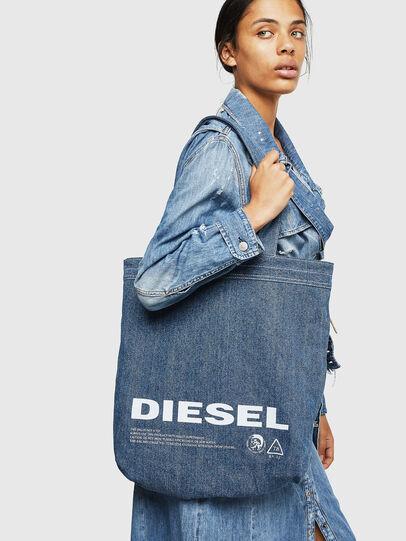 Diesel - F-THISBAG SHOPPER NS, Weiß/Blau - Shopper und Schultertaschen - Image 7