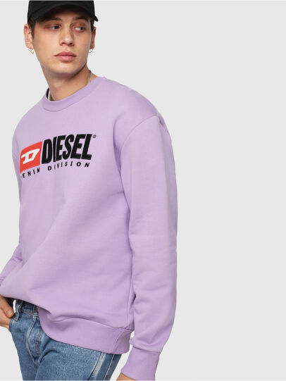 Diesel - S-CREW-DIVISION, Lila - Sweatshirts - Image 3