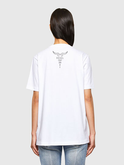 Diesel - CL-T-JUST-O, Bianco - T-Shirts - Image 4