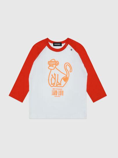 Diesel - TBALYB, White/Orange - T-shirts and Tops - Image 1