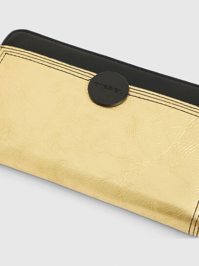 Diesel - GRANATO LC, Gold/Schwarz - Portemonnaies Zip-Around - Image 4