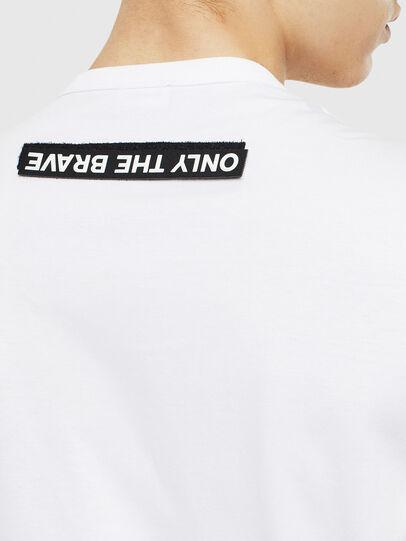 Diesel - T-WORKY-SLITS, Weiß - T-Shirts - Image 4