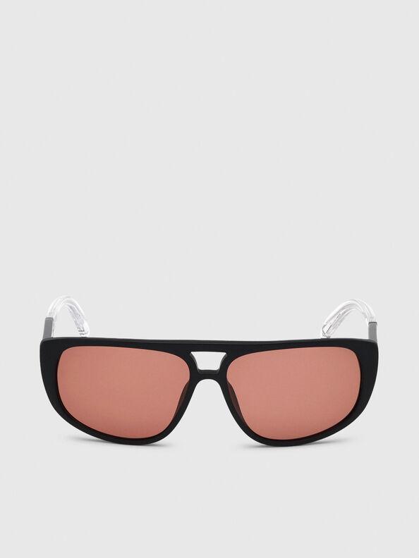 DL0300, Schwarz/Weiß - Sonnenbrille