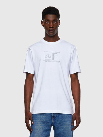 Diesel - T-JUST-A35, Bianco - T-Shirts - Image 1