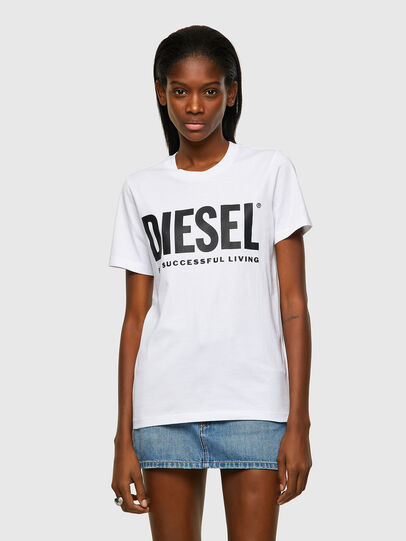 Diesel - T-SILY-ECOLOGO, Blanc - T-Shirts - Image 1