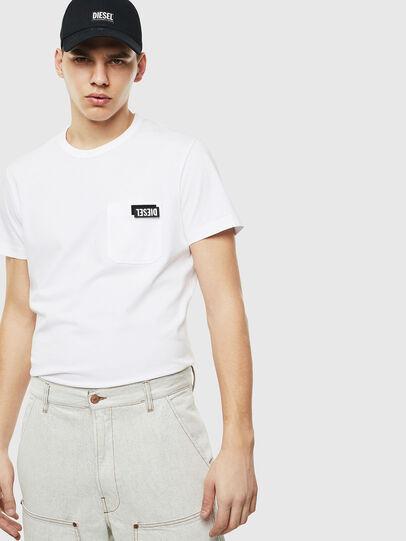 Diesel - T-WORKY-SLITS, Weiß - T-Shirts - Image 5