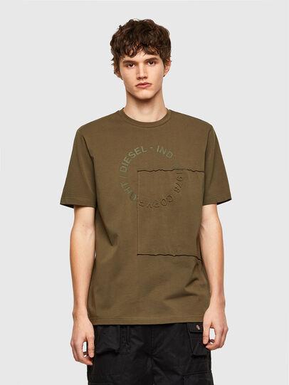 Diesel - T-JUSTEMB, Vert Militaire - T-Shirts - Image 1