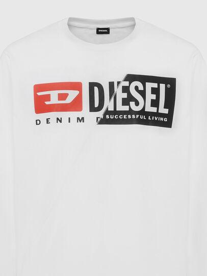 Diesel - T-DIEGO-LS-CUTY, Bianco - T-Shirts - Image 3