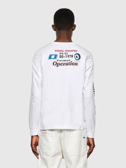 Diesel - T-DIEGOS-LS-K25, Bianco - T-Shirts - Image 2