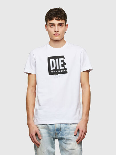 Diesel - T-DIEGOS-LAB, Bianco - T-Shirts - Image 1