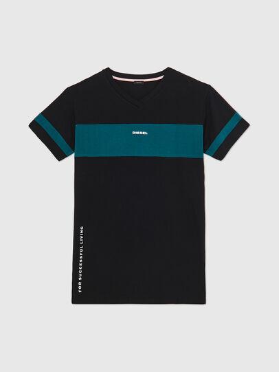Diesel - UFTEE-CHEERLY, Schwarz/Blau - T-Shirts - Image 1