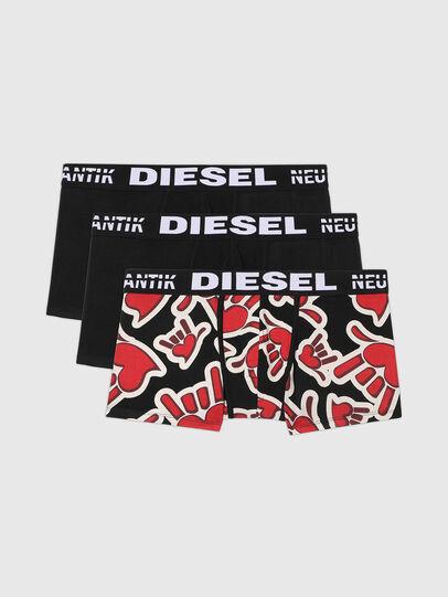 Diesel - UMBX-DAMIENTHREEPACK, Noir/Rouge - Boxeurs courts - Image 1