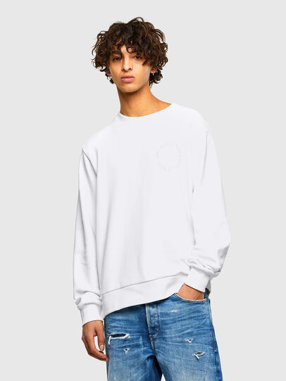 Diesel - S-GIRK-A73, Blanc - Pull Cotton - Image 1