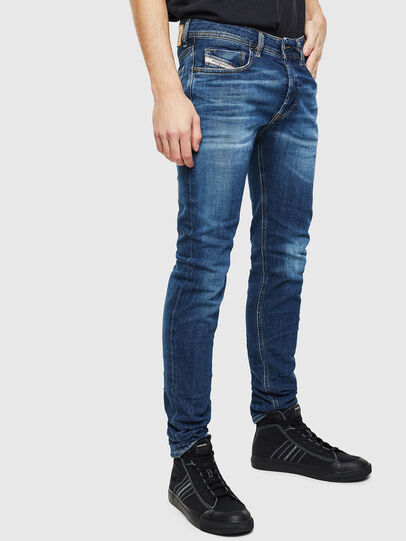 Diesel - Sleenker 0097T, Dunkelblau - Jeans - Image 4