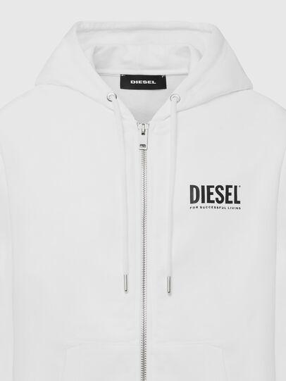 Diesel - S-GIRK-HOOD-ZIP-LOGO, Weiß - Sweatshirts - Image 3