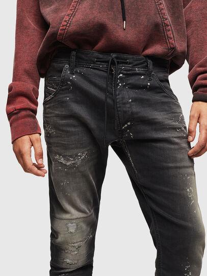 Diesel - Krooley JoggJeans 084AE, Schwarz/Dunkelgrau - Jeans - Image 3