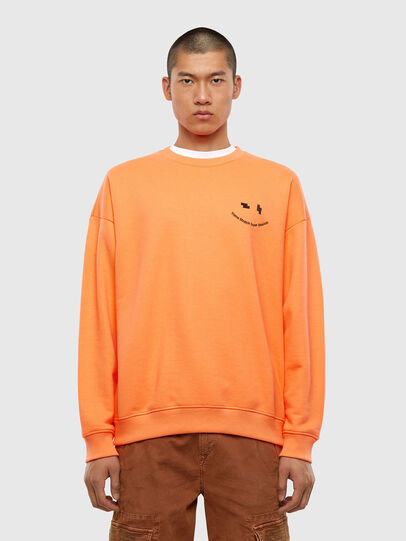 Diesel - S-MART-FLU, Orange - Sweatshirts - Image 1