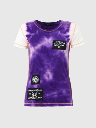 T-SUPERY-V10, Weiss/Violett - T-Shirts
