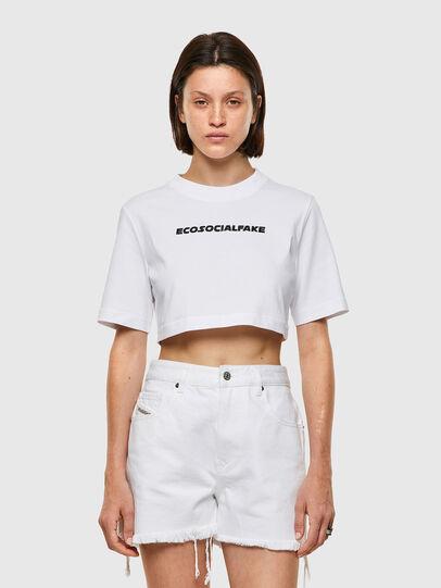 Diesel - T-RECROP, Bianco - T-Shirts - Image 1