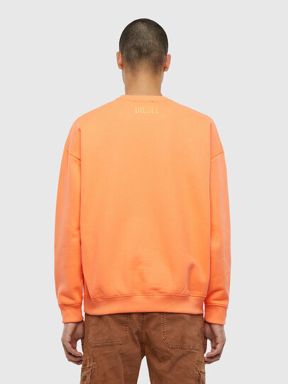 Diesel - S-MART-FLU, Orange - Sweatshirts - Image 2