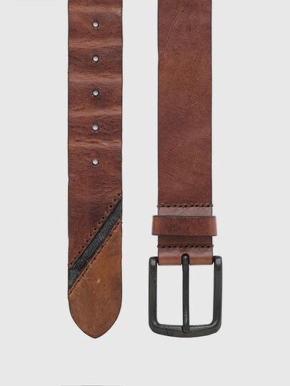 Diesel - B-LINE, Brown Leather - Belts - Image 3