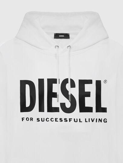 Diesel - F-ANG-HOOD-LOGO, Weiß - Sweatshirts - Image 3