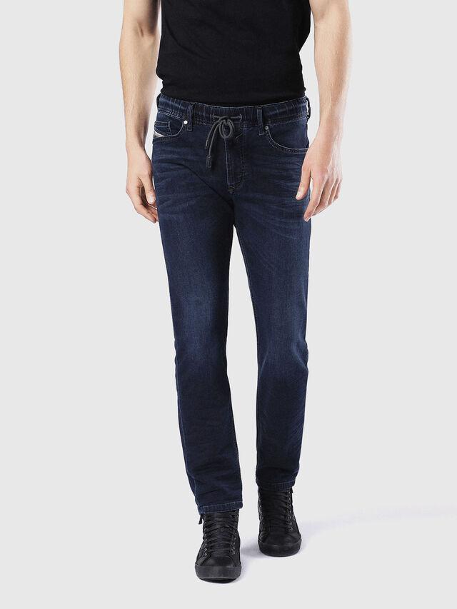 Diesel - Waykee JoggJeans 0842W, Dunkelblau - Jeans - Image 2