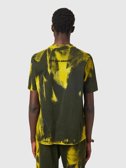 Diesel - T-JUST-B84, Vert/Jaune - T-Shirts - Image 3