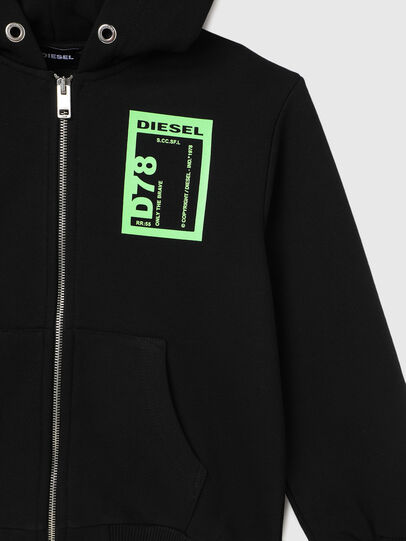 Diesel - SFULLZIP78 OVER, Noir - Pull Cotton - Image 3