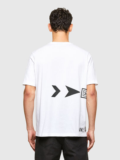 Diesel - T-JUST-A42, Bianco - T-Shirts - Image 2