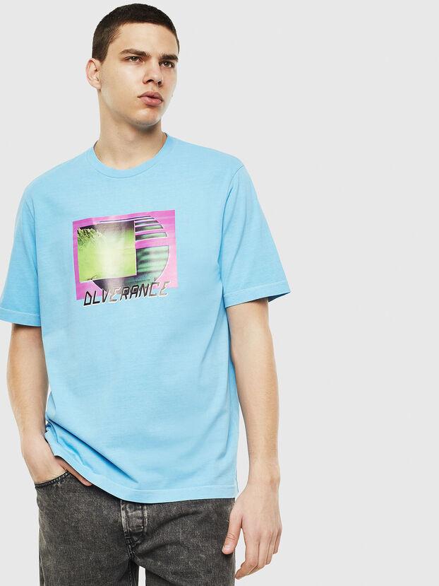 T-JUST-NEON-S1, Azurblau - T-Shirts