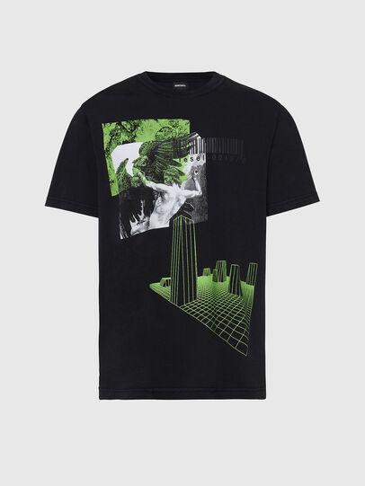 Diesel - T-JUBIND-SLITS, Schwarz - T-Shirts - Image 1