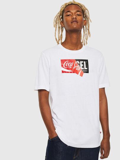 Diesel - CC-T-JUST-COLA, Weiß - T-Shirts - Image 1
