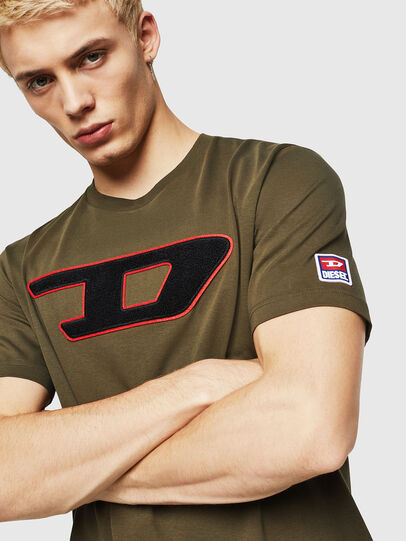 Diesel - T-JUST-DIVISION-D, Armeegrün - T-Shirts - Image 3