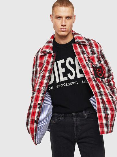 Diesel - S-JOHNS, Rot/Schwarz - Hemden - Image 6