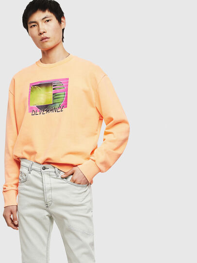 Diesel - S-BIAY-FLUO, Orange - Sweatshirts - Image 8