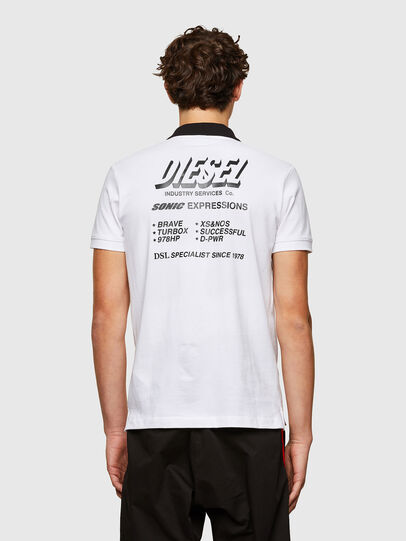 Diesel - T-RANDY-NEW-A1, White - Polos - Image 2