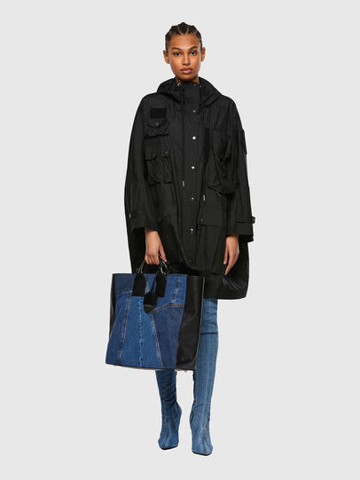 Diesel - LEENA, Blue - Shopping and Shoulder Bags - Image 6