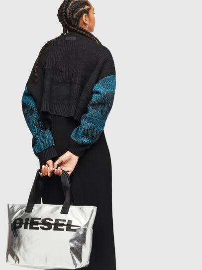 Diesel - F-BOLD SHOPPER II, Silber - Shopper und Schultertaschen - Image 6