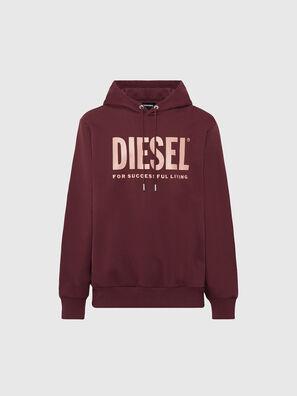 S-GIR-HOOD-DIVISION-, Rot - Sweatshirts