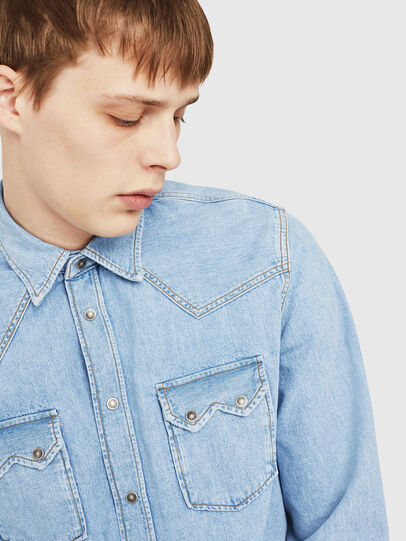 Diesel - D-LEO, Bleu Clair - Chemises en Denim - Image 3