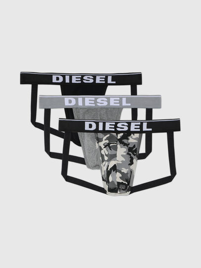 Diesel - UMBR-JOCKYTHREEPACK, Gris/Noir - Jock-strap - Image 1