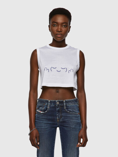 Diesel - T-WELL, Blanc - T-Shirts - Image 1