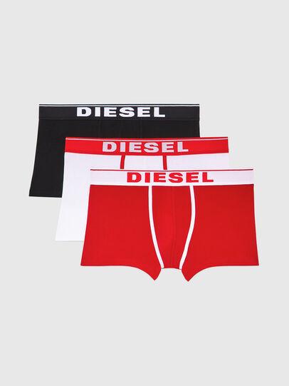 Diesel - UMBX-DAMIENTHREEPACK, Bianco/Rosso - Boxer stretch - Image 1