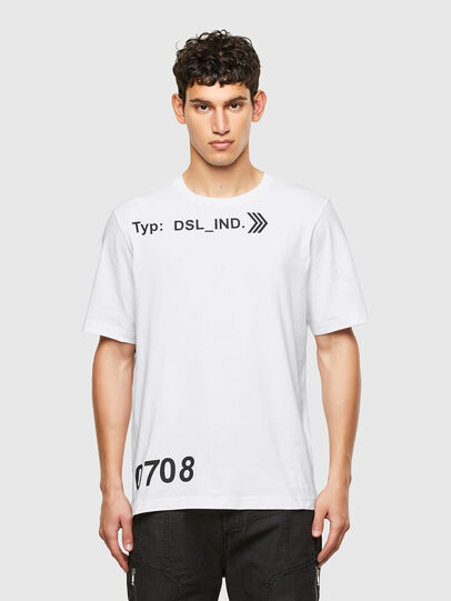 Diesel - T-JUST-A42, Bianco - T-Shirts - Image 1