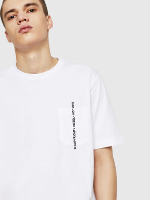 T-JUST-POCKET-COPY, Weiß - T-Shirts